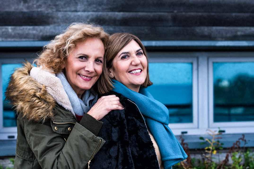 """Elena Irureta y Ane Gabarain, protagonistas de la serie """"Patria"""""""