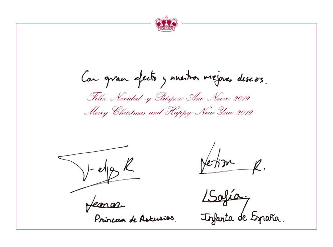 Christmas Familia Real 2018 © Casa S.M. El Rey
