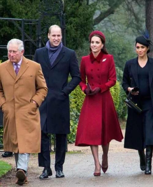 La Familia Real británica se reúne en la tradicional Misa de Navidad de Sandringham