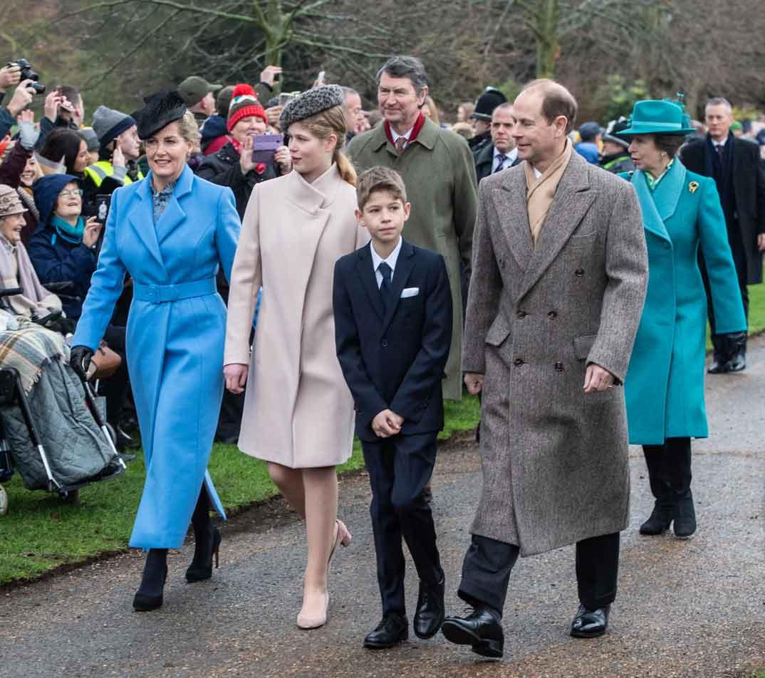 El príncipe Eduardo y su familia