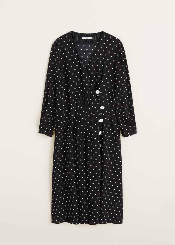 Vestido lunares Mango (49,99 euros)
