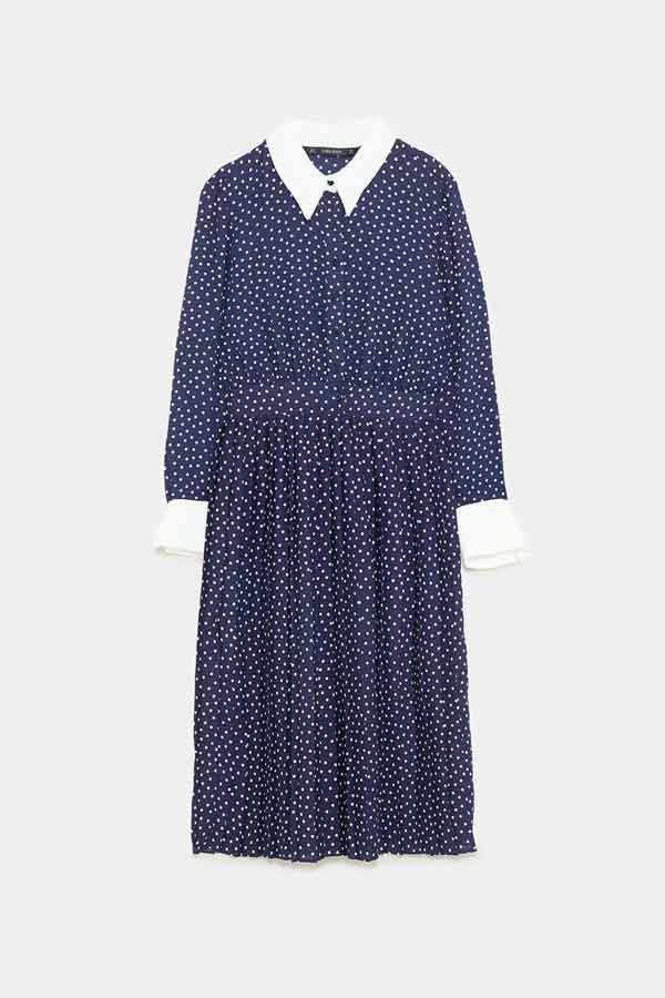 Vestido lunares Zara (39,95 euros)