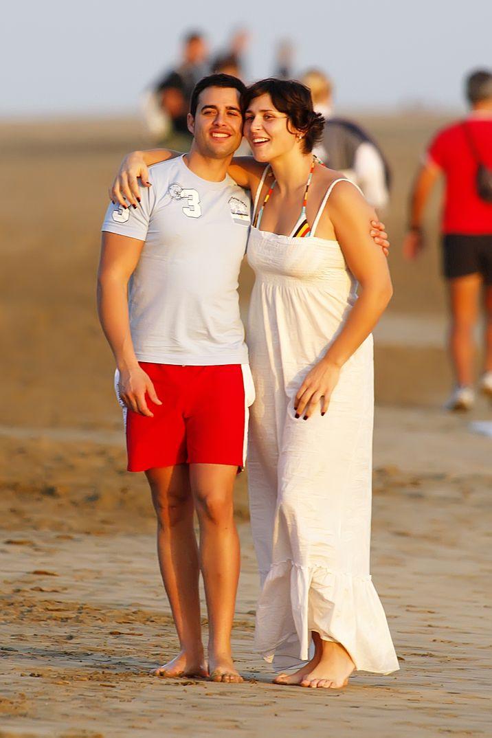 Rosa López con su novio Pablo Muñoz Castillo - Cádiz - 2008