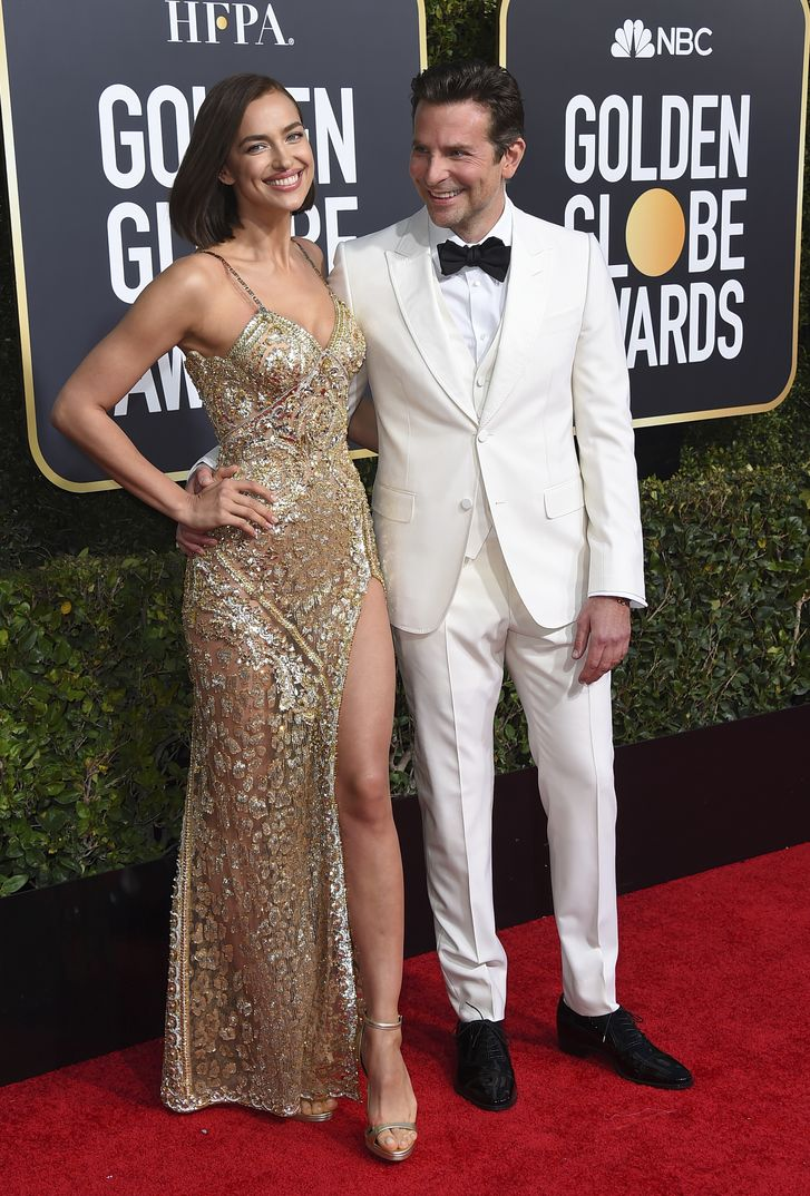 Irina Shayk y Bradley Cooper Globos de Oro 2019