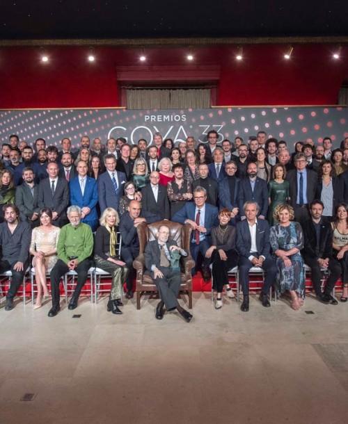 La foto de familia de los nominados a los Goya 2019