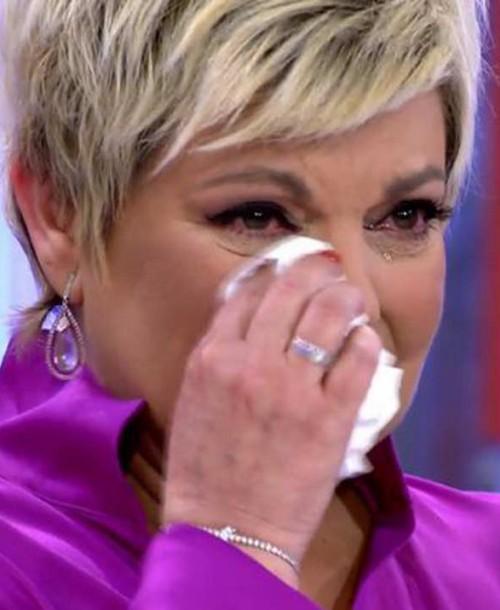 Las lágrimas de Terelu Campos en su regreso a televisión