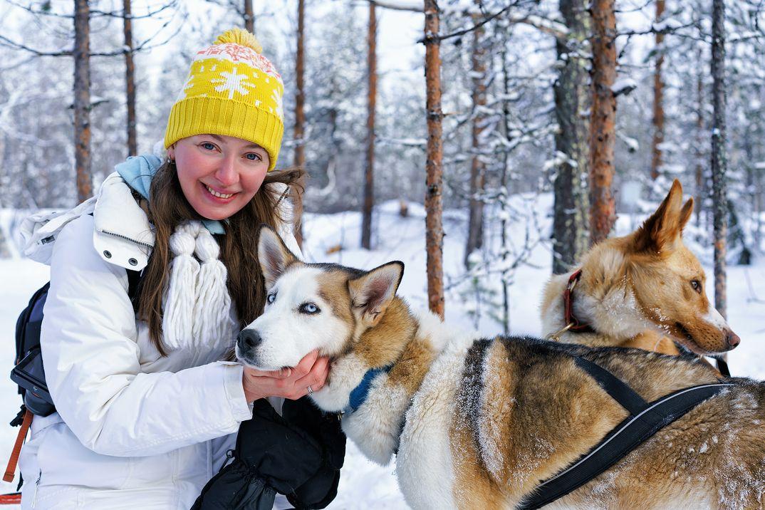 Visita a un criadero de perros husky