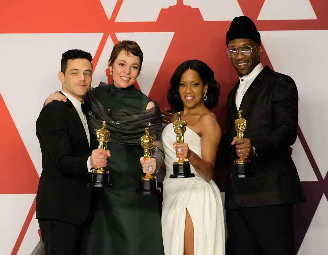 Rami Malek, Olivia Colman, Regina King, Mahershala Ali - Premios Oscar 2019