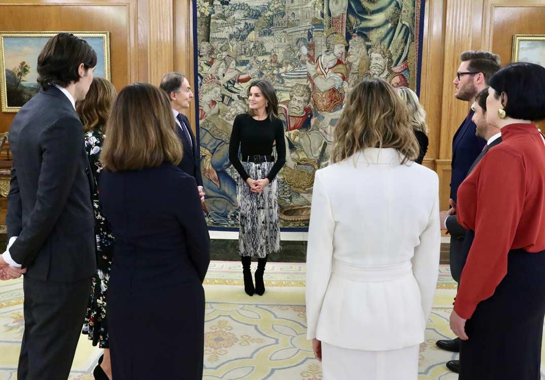 Reina Letizia - Audencia representación revista Vogue España © Casa S.M. El Rey