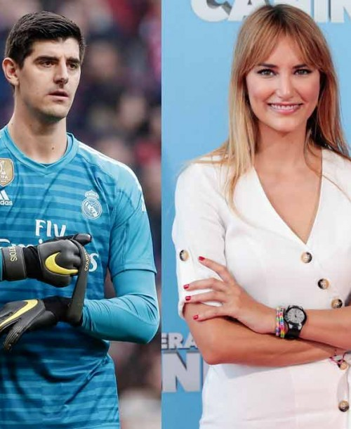 Alba Carrillo «pillada» con el portero del Real Madrid, Courtois