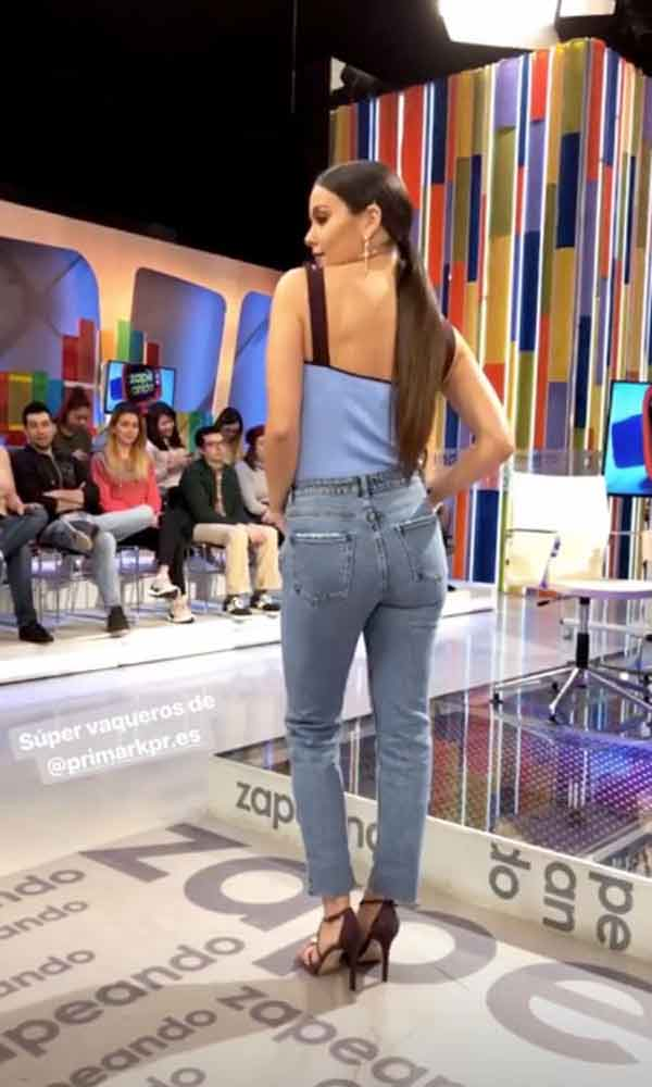 Cristina Pedroche vaqueros Primark © Redes Sociales