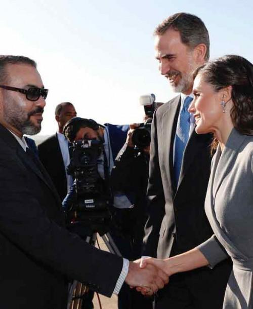 Las mejores imágenes del primer día de visita a Marruecos de los reyes Felipe y Letizia