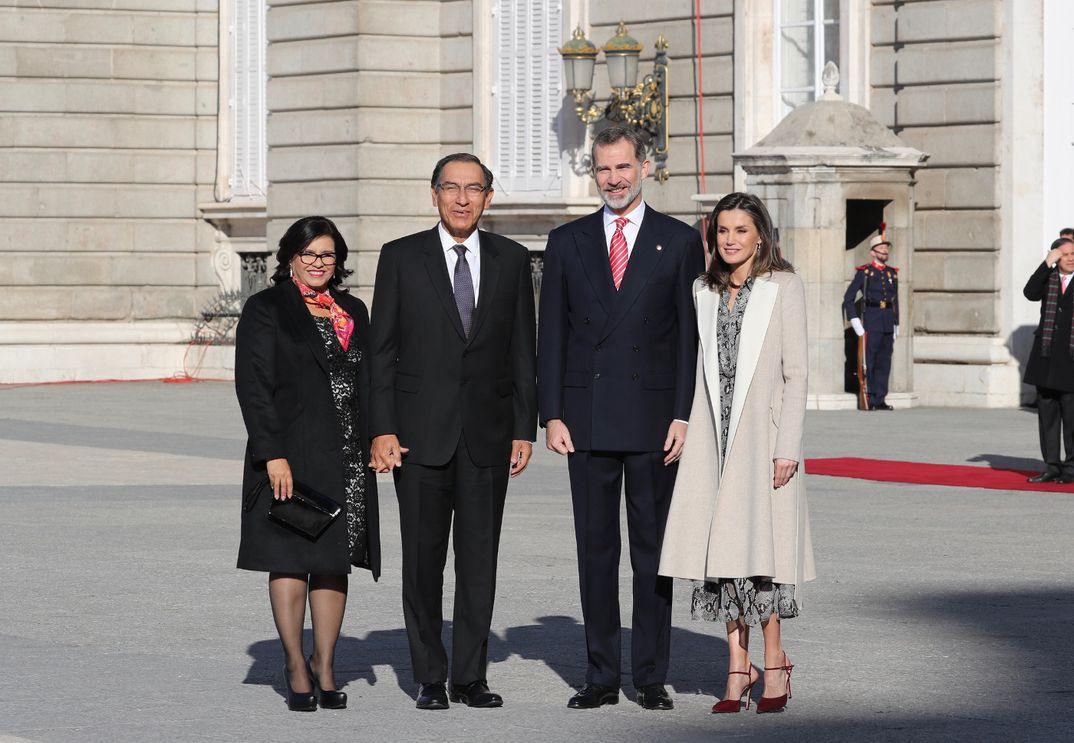 Reyes Felipe y Letizia - Visita Estado Presidente de Perú y su esposa © Casa S.M. El Rey