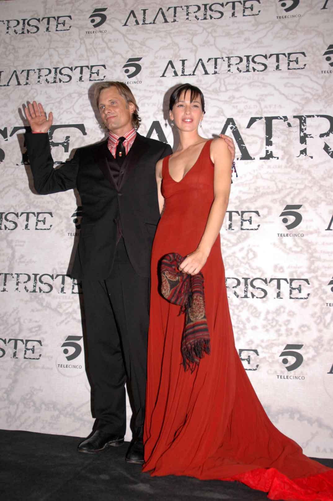 Viggo Mortensen y Ariadna Gil (foto archivo)