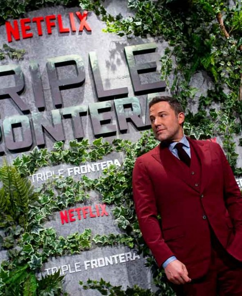 Ben Affleck estrena «Triple Frontera» en Madrid