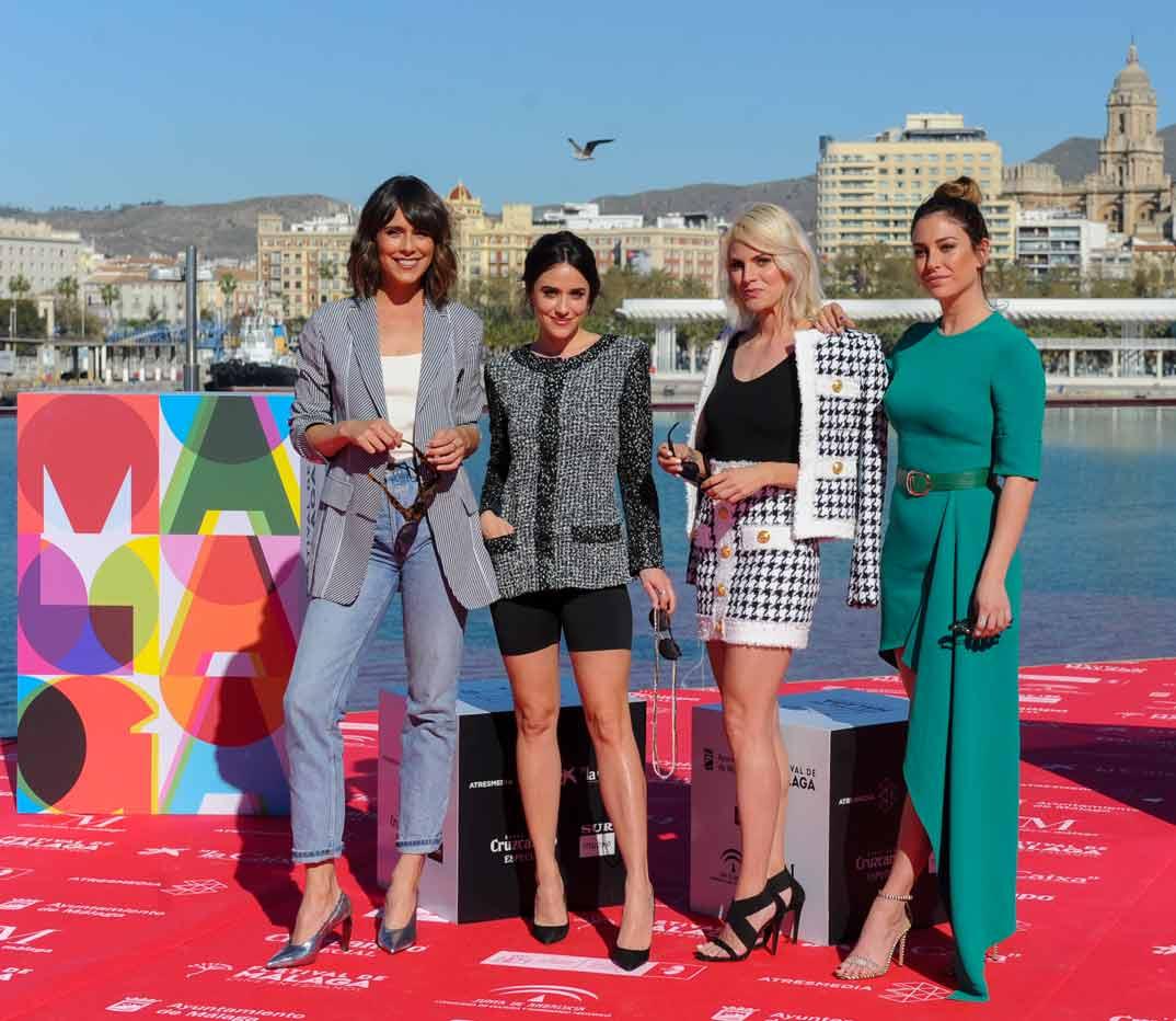 Macarena García, Amaia Salamanca, Blanca Suárez, Belén Cuesta -Estreno A pesar de todo - Festival de Cine de Málaga 2019 © Netflix