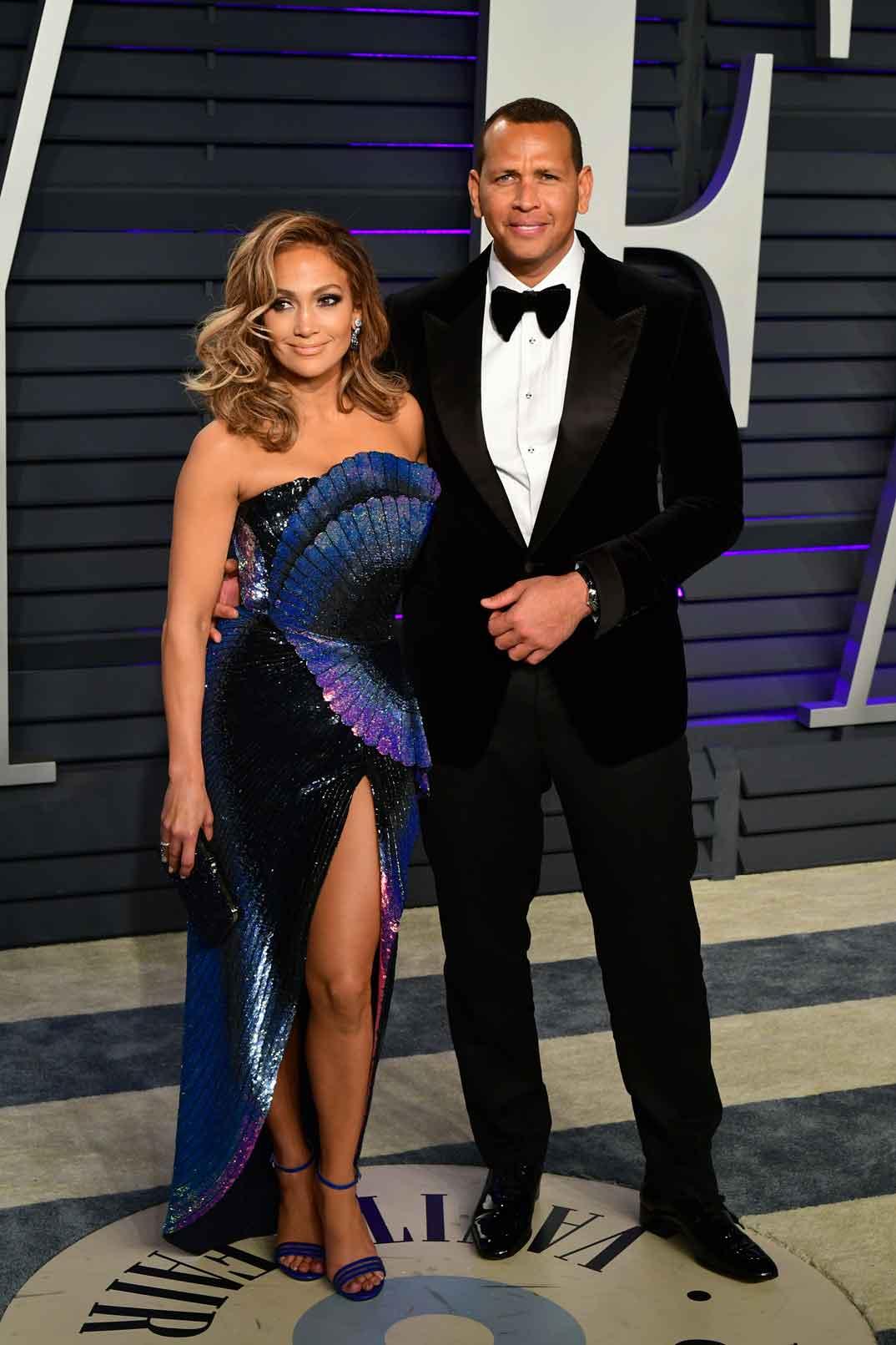 Jennifer Lopez y Alex Rodríguez - Fiesta Vanity Fair 2019