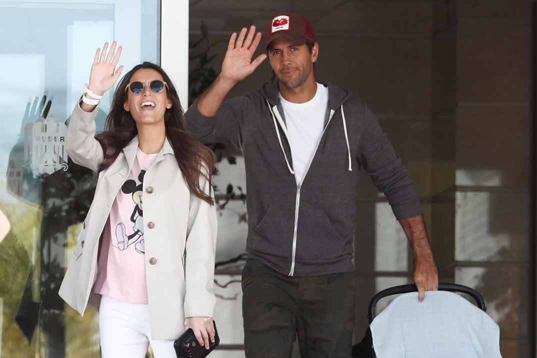 Ana Boyer y Fernando Verdasco ya están en casa con el pequeño Miguel