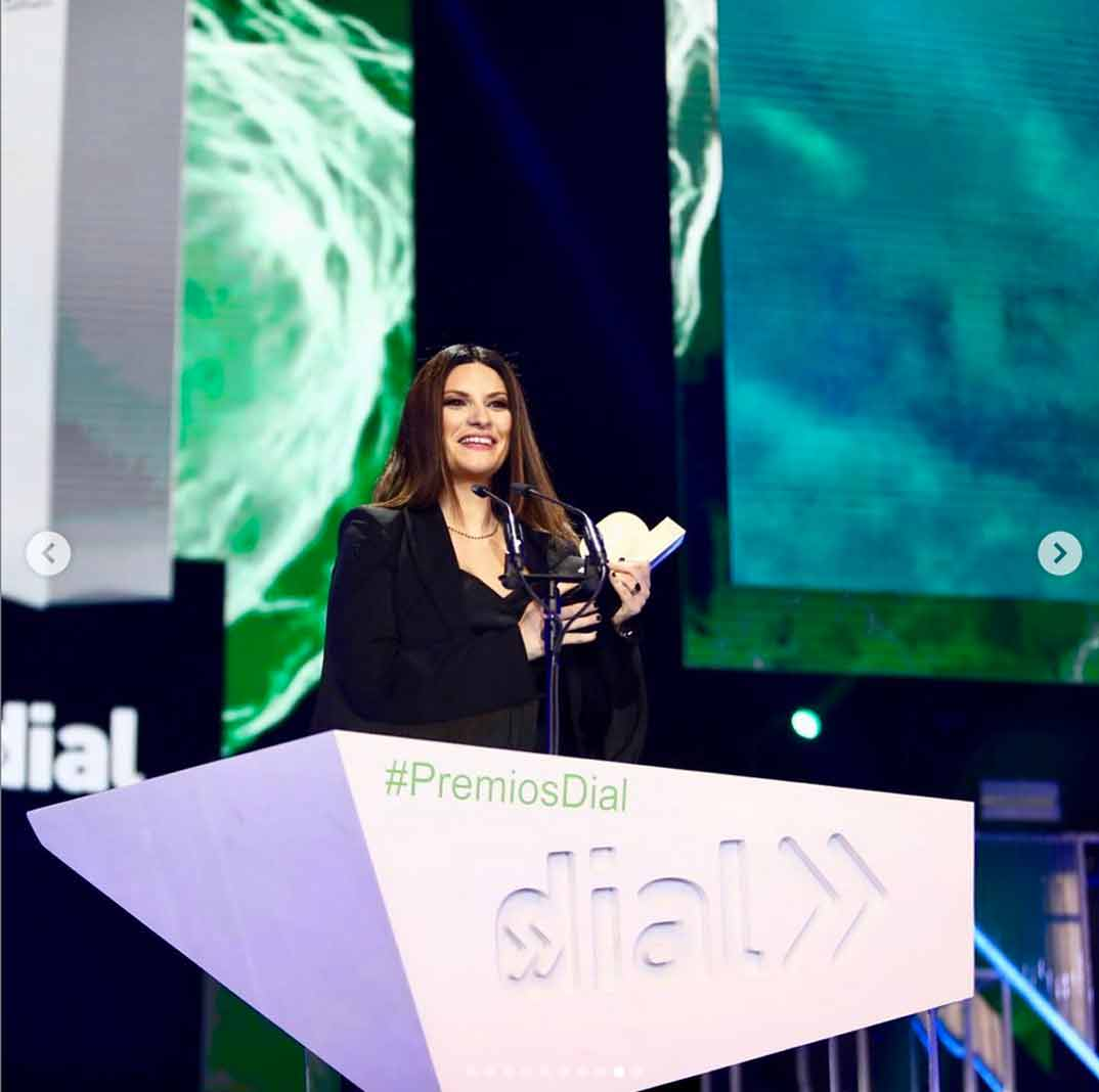 Laura Pausini - Premios Cadena Dial 2019 © Redes Sociales