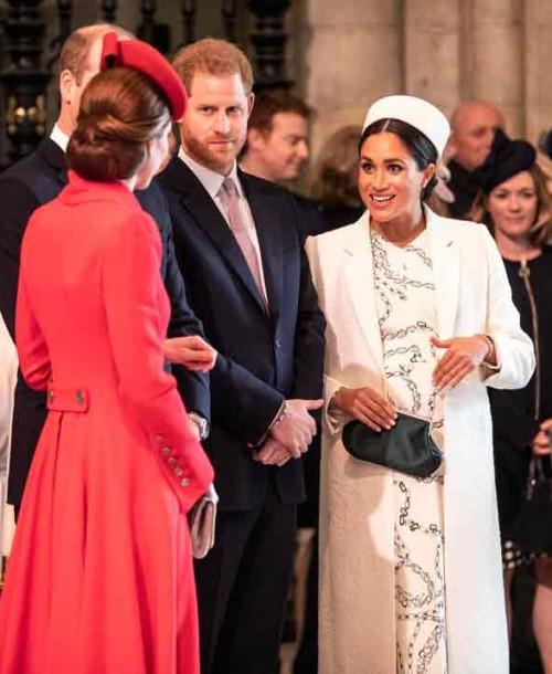 Las imágenes del reencuentro de Kate Middleton y Meghan Markle