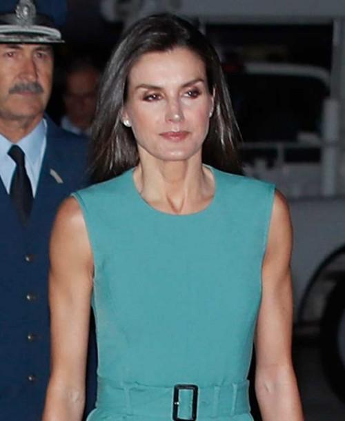 La reina Letizia, de estreno, a su llegada a Argentina