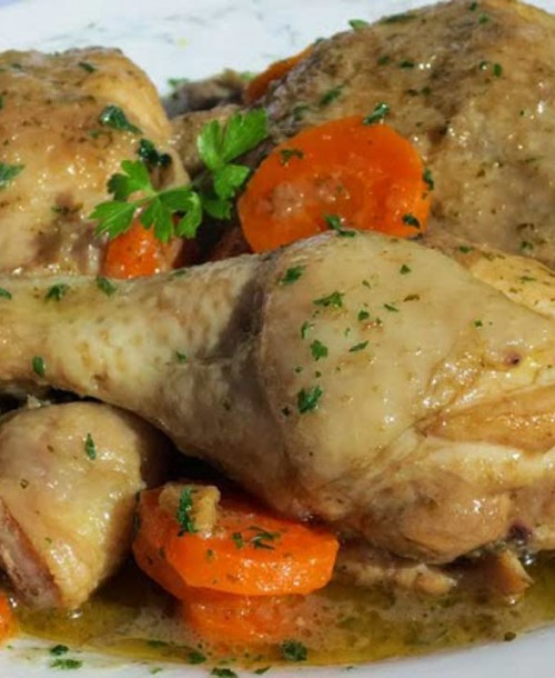 Pollo en salsa de perdiz