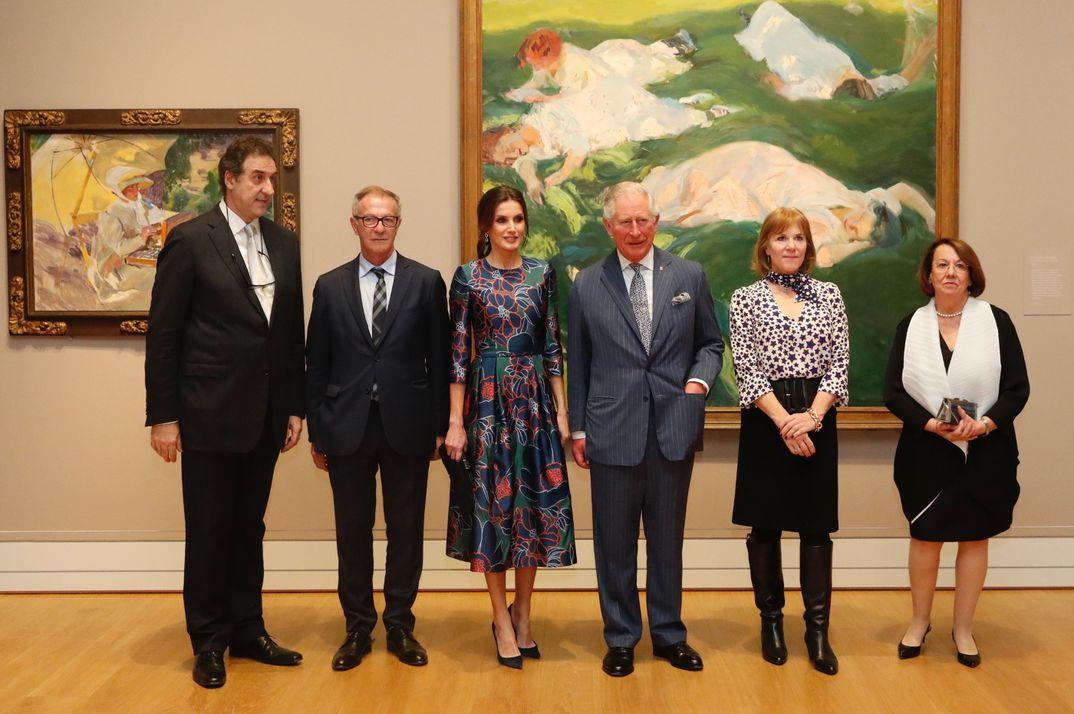La Reina Letizia visita la exposición de Sorolla con el príncipe Carlos de Inglaterra © Casa S.M. El Rey