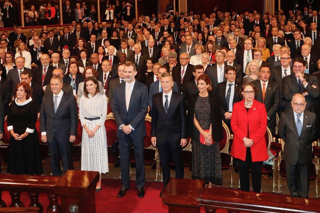 Los Reyes Felipe y Letizia junto al Presidente de Argentina y su esposa © Casa S.M. El Rey