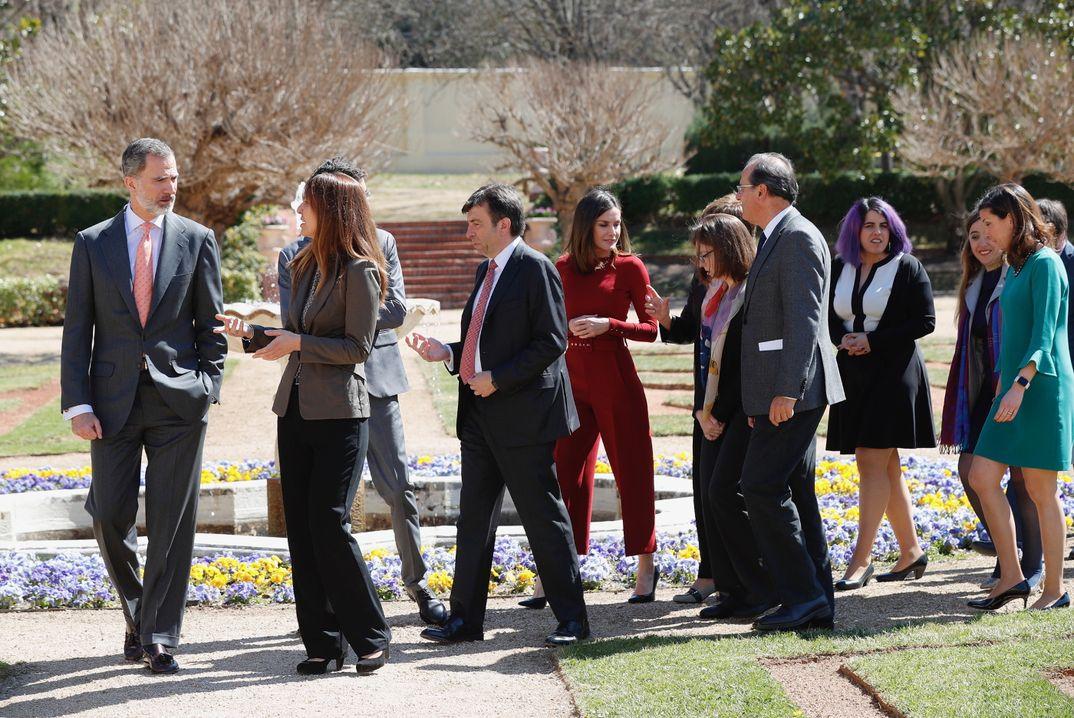 Reyes Felipe y Letizia - Encuentro con la Ciencia © Casa S.M. El Rey