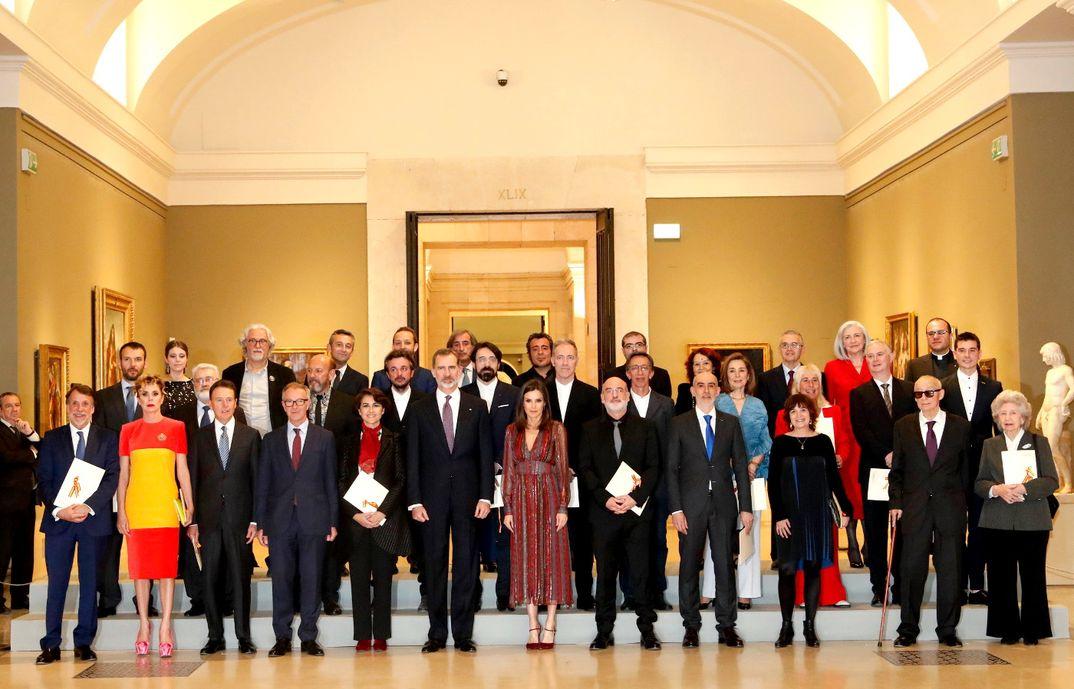 Los Reyes junto a los premiados en los Premios Nacionales de Cultura 2017 © Casa S.M. El Rey