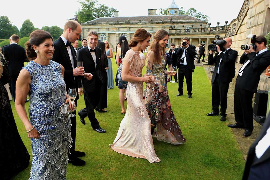 Los duques de Cambridge con Rose