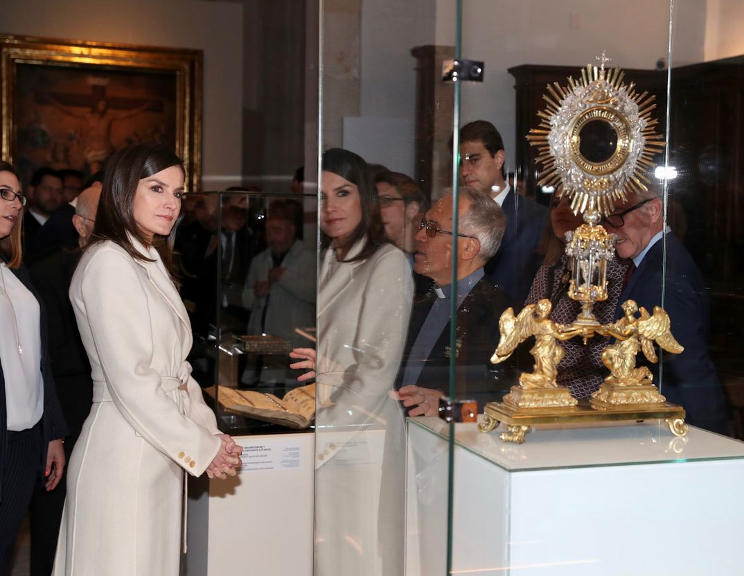 Reina Letizia - Exposición Angeli - Lerma (Burgos) © Casa S.M. El Rey