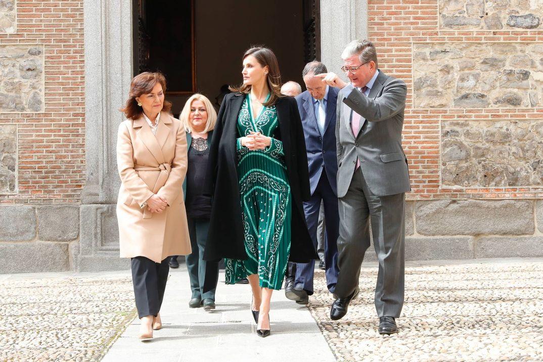 La reina Letizia recupera uno de sus vestidos más aplaudidos