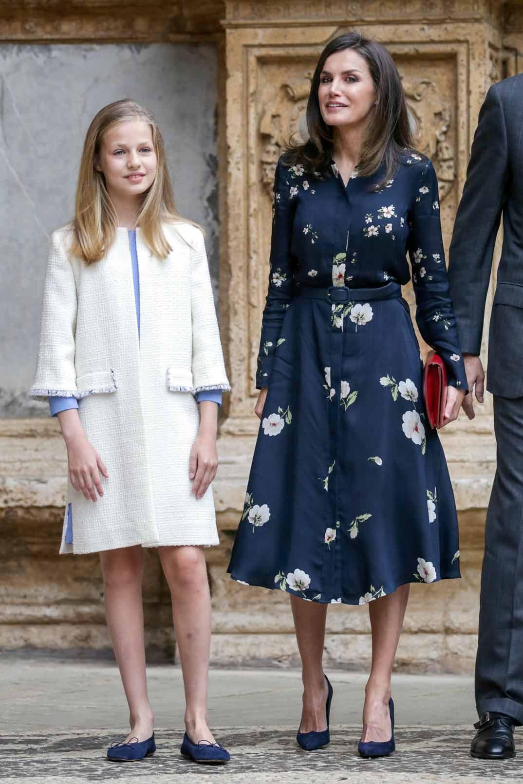 La reina Letiza y la princesa Leonor