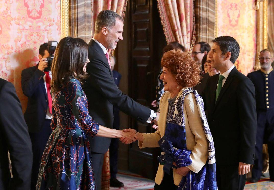 Reyes Felipe y Letizia - Almuerzo Premio Miguel de Cervantes 2018 © Casa S.M. El Rey