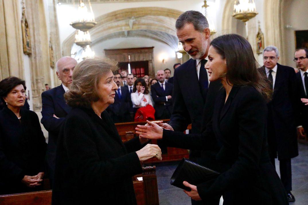 Los Reyes presiden el funeral en memoria de José Pedro Pérez-Llorca Rodrigo