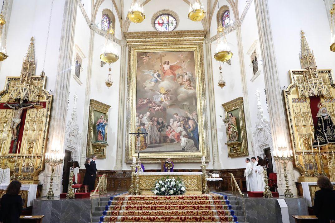 Reyes Felipe y Letizia - Funeral en memoria de Don José Pedro Pérez-Llorca Rodrigo © Casa SM. El Rey