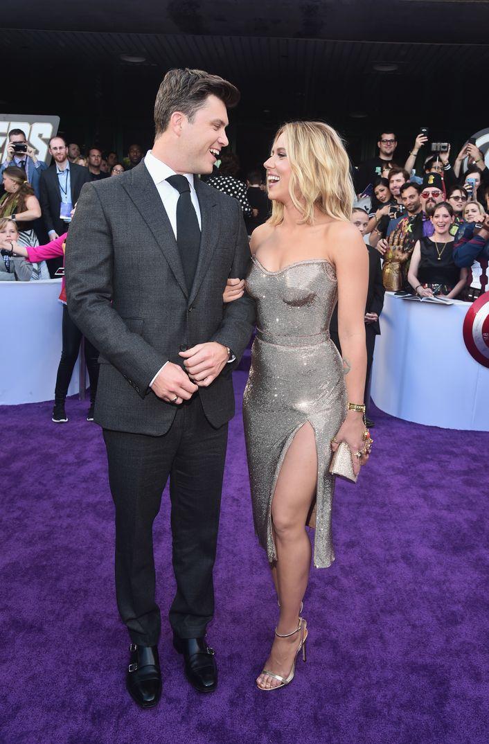 Scarlett Johansson y Colin Jost - Estreno Los Vengadores: Endgame