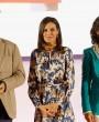 El nuevo vestido primaveral de la reina Letizia
