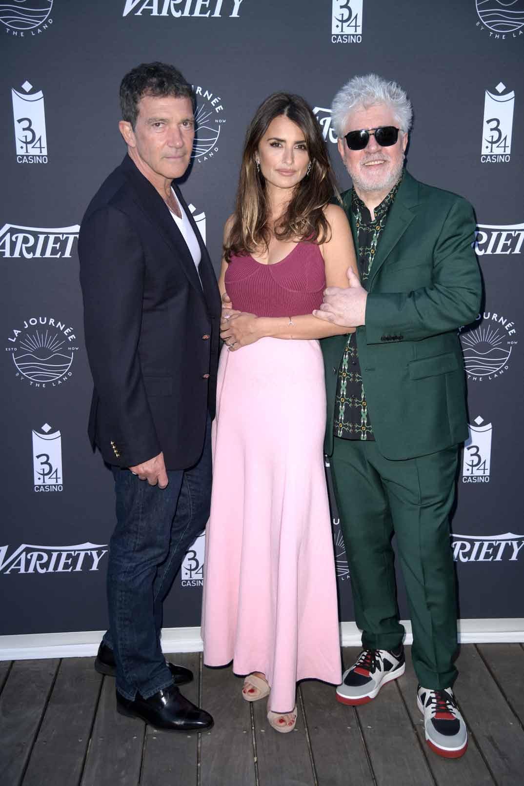 Penélope Cruz, Antonio Banderas y Pedro Almodóvar - Festival de Cannes 2019
