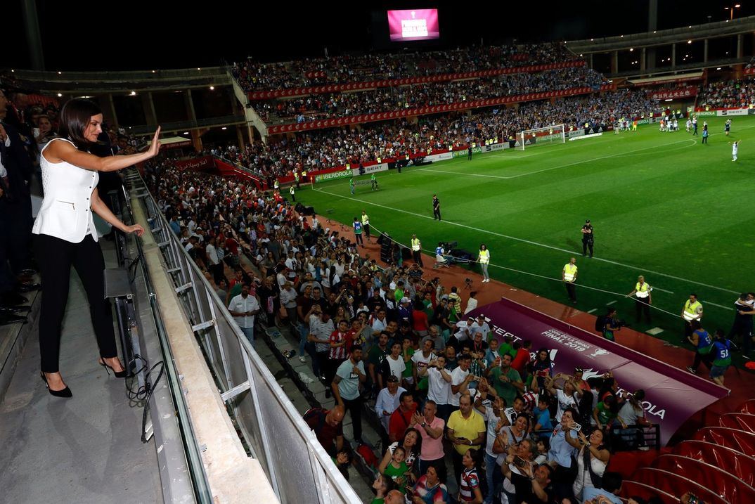 "Reina Letizia - Final de la ""Copa de la Reina"" de Futbol Femenino © Casa S.M. El Rey"