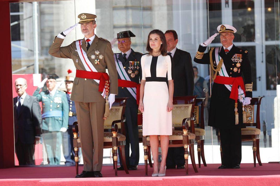 Reyes don Felipe y doña Letizia - Acto conmemorativo del 175º aniversario de la fundación de la Guardia Civil © Casa S.M. El Rey