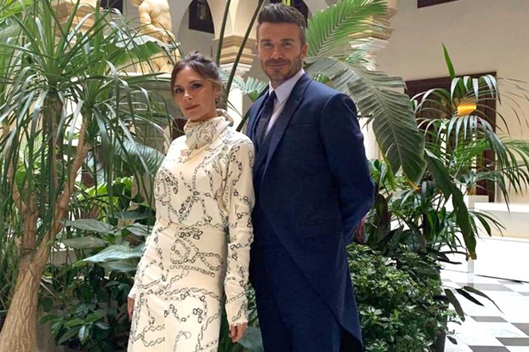 Los Beckham, turistas en Sevilla