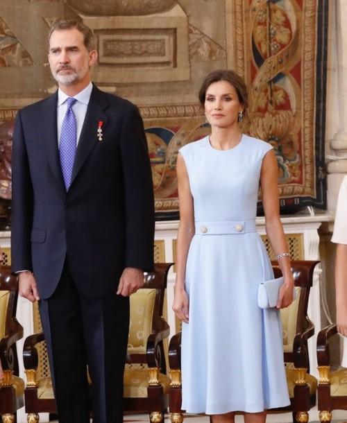 Los Reyes y sus hijas en el quinto aniversario de la proclamación de Felipe VI