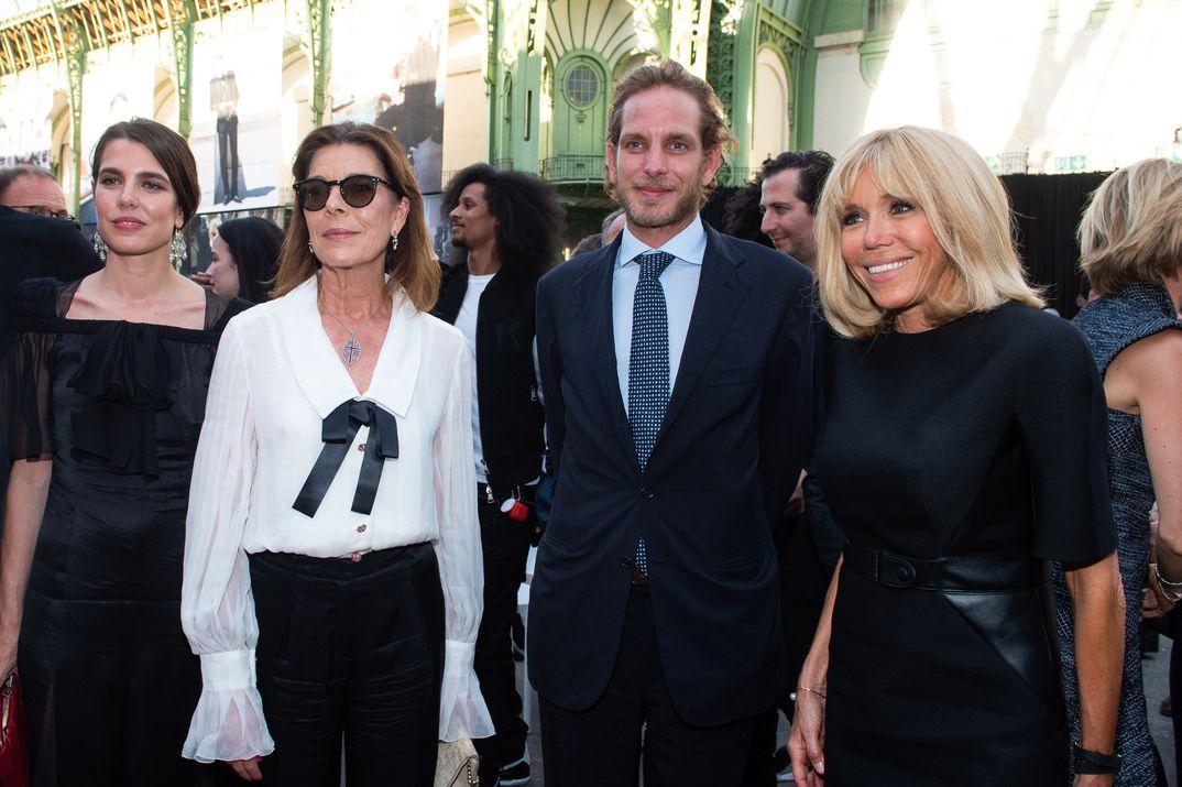 Carolina de Mónaco con sus hijos Andrea y Carlota Casiraghi