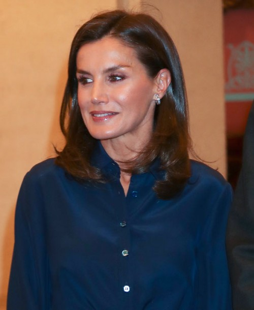 La nueva falda lápiz de la reina Letizia