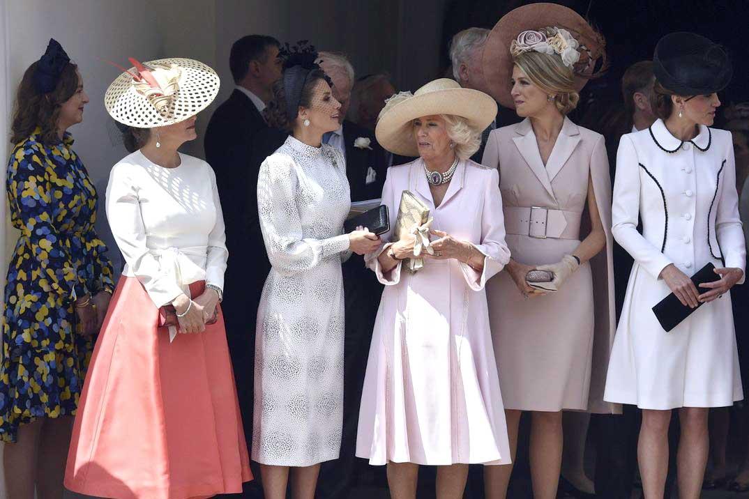 Los looks al detalle de la reina Letizia, Máxima de Holanda y Kate Middleton