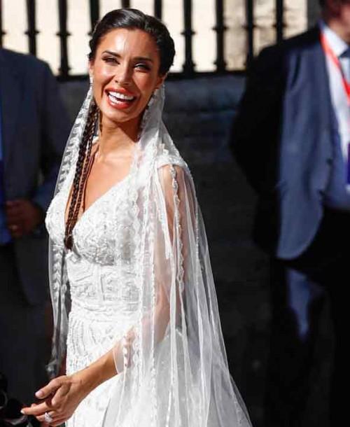 Todos los detalles del vestido de novia de Pilar Rubio