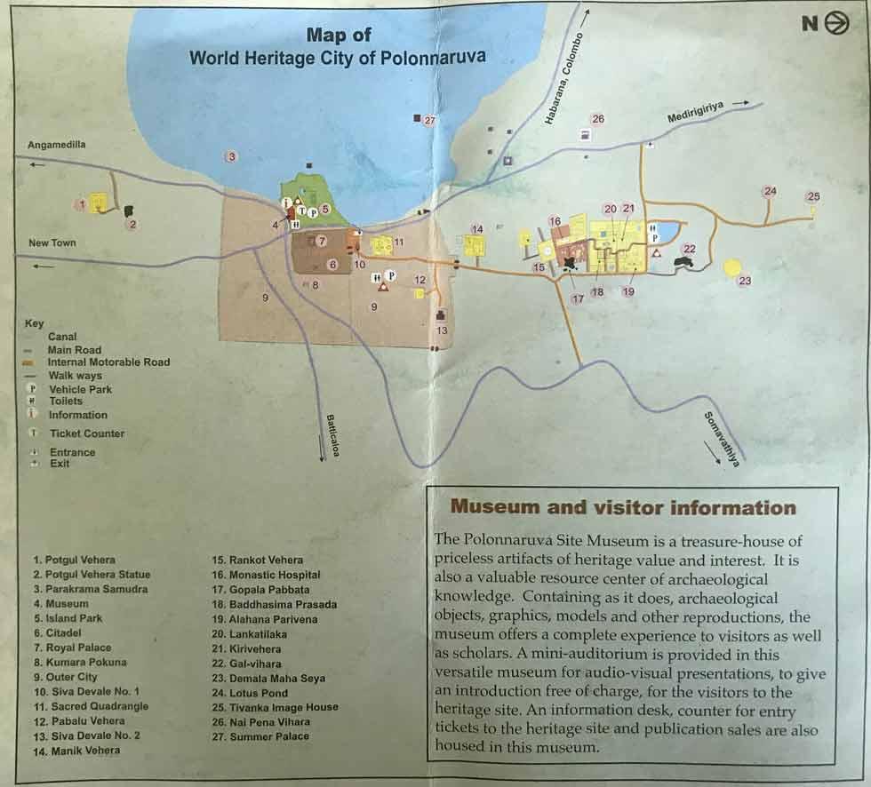polonnaruwa-mapa