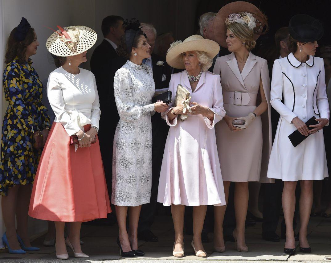 Condesa de Wessex, Reina Letizia, Camilla de Cornualles, Máxima de Holanda y Kate Middleton © Casa S.M. El Rey